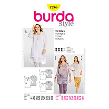 Buy Simplicity Burda Plus Sizes Tunic Sewing Pattern, B7246 Online at johnlewis.com
