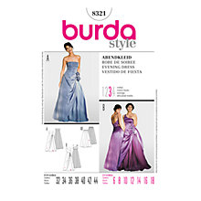 Buy Simplicity Burda Special Occasion Gowns Sewing Pattern, B8321 Online at johnlewis.com