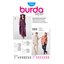 Buy Simplicity Burda Plus Size Dress & Jacket Sewing Pattern, B7168 Online at johnlewis.com