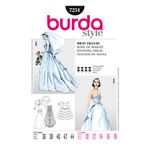Buy Simplicity Burda Wedding Dress Sewing Pattern, B7251 Online at johnlewis.com