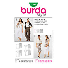 Buy Simplicity Burda Plus Sizes Trousers and Skirt Sewing Pattern, B7505 Online at johnlewis.com