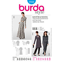 Buy Simplicity Burda Special Occasion Suit & Coat Sewing Pattern, 7153 Online at johnlewis.com