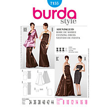 Buy Simplicity Burda Special Occasion Evening Dress Sewing Pattern, 7155 Online at johnlewis.com