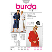 Buy Simplicity Burda Lingerie Bathing Gown Sewing Pattern, 2653 Online at johnlewis.com