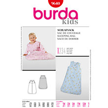 Buy Burda Children Sleeping Bag Sewing Pattern, B9640 Online at johnlewis.com