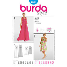 Buy Simplicity Burda Maternity Dress Sewing Pattern, 7630 Online at johnlewis.com