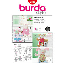 Buy Burda Children Soft Toy Sewing Pattern, B7409 Online at johnlewis.com