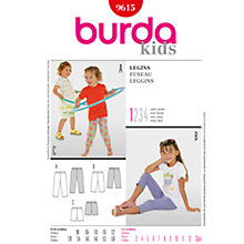 Buy Simplicity Burda Children Leggings Sewing Pattern, B9615 Online at johnlewis.com
