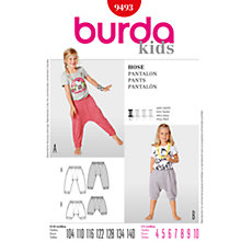 Buy Simplicity Burda Children Trousers Sewing Pattern, B9493 Online at johnlewis.com