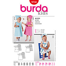 Buy Simplicity Burda Children Dress Sewing Pattern, B9750 Online at johnlewis.com