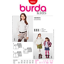 Buy Simplicity Burda Children Shorts Sewing Pattern, B9481 Online at johnlewis.com