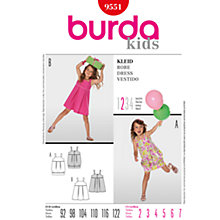 Buy Simplicity Burda Children Dresses Sewing Pattern, B9551 Online at johnlewis.com