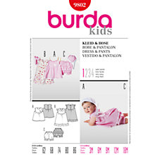 Buy Burda Baby Dress and Trousers Sewing Pattern, 9802 Online at johnlewis.com