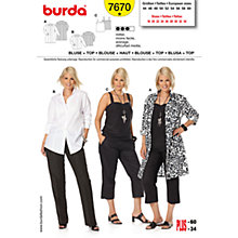 Buy Simplicity Burda Plus Sizes Blouse & Top Sewing Pattern, 7670 Online at johnlewis.com