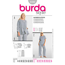 Buy Simplicity Burda Plus Sizes Coordinates Sewing Pattern, 8108 Online at johnlewis.com