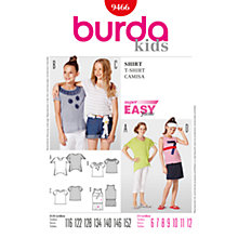 Buy Simplicity Burda Children T-Shirt Sewing Pattern, B9466 Online at johnlewis.com