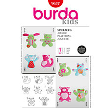 Buy Simplicity Burda Children Soft Toy Sewing Pattern, B9637 Online at johnlewis.com