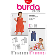 Buy Simplicity Burda Children Jumpsuit Sewing Pattern, B9652 Online at johnlewis.com
