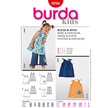Buy Simplicity Burda Children Dress and Trousers Sewing Pattern, B9708 Online at johnlewis.com