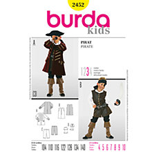 Buy Simplicity Burda Children Pirate Costume Sewing Pattern, B2452 Online at johnlewis.com
