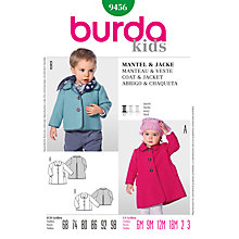 Buy Burda Children Coat and Jacket Sewing Pattern, B9456 Online at johnlewis.com