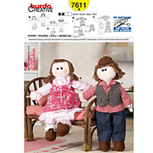 Buy Simplicity Burda Rag Dolls Sewing Pattern, B7611 Online at johnlewis.com