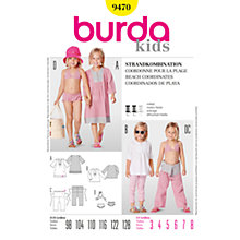 Buy Simplicity Burda Children Beach Co-ordinates Sewing Pattern, B9470 Online at johnlewis.com