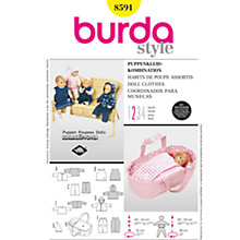 Buy Burda Children Doll Clothes Sewing Pattern, B8591 Online at johnlewis.com