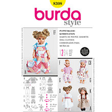 Buy Burda Children Doll Clothes Sewing Pattern, B8308 Online at johnlewis.com