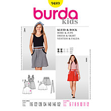 Buy Simplicity Burda Children Dress and Skirt Sewing Pattern, B9489 Online at johnlewis.com