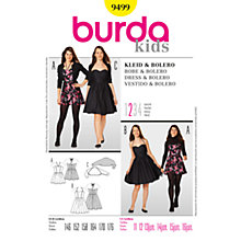Buy Simplicity Burda Children Dress and Bolero Sewing Pattern, B9499 Online at johnlewis.com