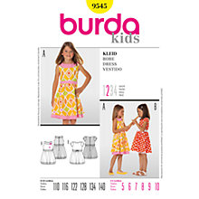 Buy Burda Girl's Dress Sewing Pattern, 9545 Online at johnlewis.com