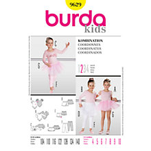 Buy Simplicity Burda Children Ballet Co-ordinates Sewing Pattern, B9629 Online at johnlewis.com
