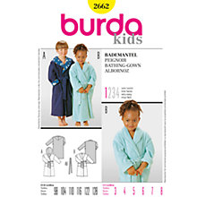 Buy Simplicity Burda Children Bathing Gown Sewing Pattern, B2662 Online at johnlewis.com