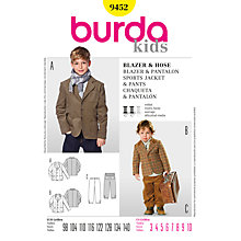 Buy Simplicity Burda Children Sports Jacket and Trousers Sewing Pattern, B9452 Online at johnlewis.com