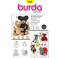 Buy Burda Children Cuddly Toys Sewing Pattern, B7904 Online at johnlewis.com