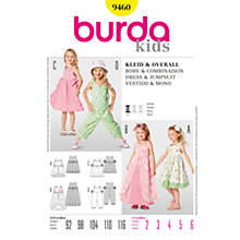 Buy Burda Children Dress and Jumpsuit Sewing Pattern, B9460 Online at johnlewis.com