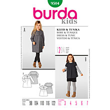 Buy Simplicity Burda Children Dress and Tunic Sewing Pattern, B9504 Online at johnlewis.com