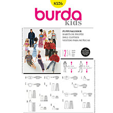 Buy Burda Children Doll Clothes Sewing Pattern, B8576 Online at johnlewis.com