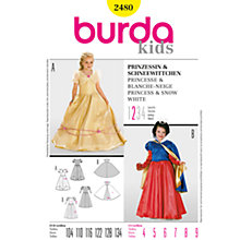 Buy Burda Children Princess and Snow White Costumes Sewing Pattern, B2480 Online at johnlewis.com