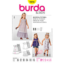 Buy Simplicity Burda Children Dress and Tunic Sewing Pattern, B9494 Online at johnlewis.com