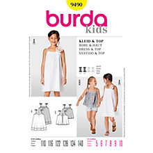 Buy Simplicity Burda Children Dress and Top Sewing Pattern, B9490 Online at johnlewis.com