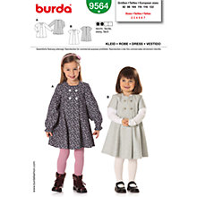 Buy Simplicity Burda Children Dresses Sewing Pattern, B9564 Online at johnlewis.com