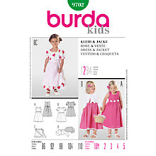 Buy Simplicity Burda Children's Dress & Jacket Sewing Pattern, 9702 Online at johnlewis.com