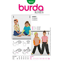 Buy Simplicity Burda Children T-Shirt Sewing Pattern, B9614 Online at johnlewis.com