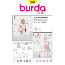 Buy Simplicity Burda Children Baby Accessories Sewing Pattern, B9635 Online at johnlewis.com