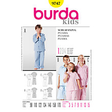 Buy Simplicity Burda Children's Pyjamas Sewing Pattern, 9747 Online at johnlewis.com