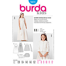 Buy Simplicity Burda Children's Formal Dress & Jacket Sewing Pattern, 9471 Online at johnlewis.com
