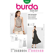 Buy Simplicity Burda Halterneck Top & Dress Sewing Pattern, B7065 Online at johnlewis.com