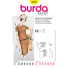 Buy Simplicity Burda Boxy Top, Skirt & Accessories Sewing Pattern, B7175 Online at johnlewis.com